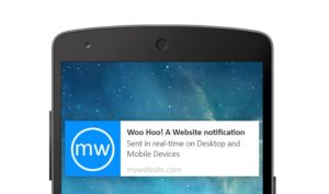 Browser push notifications