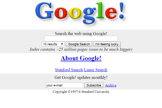 google first version